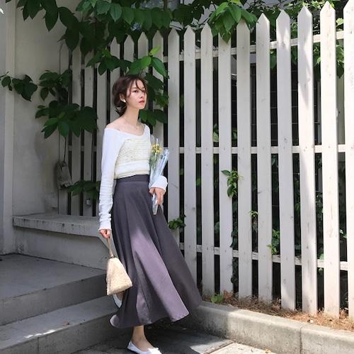 【即日発送】紫ロングスカート