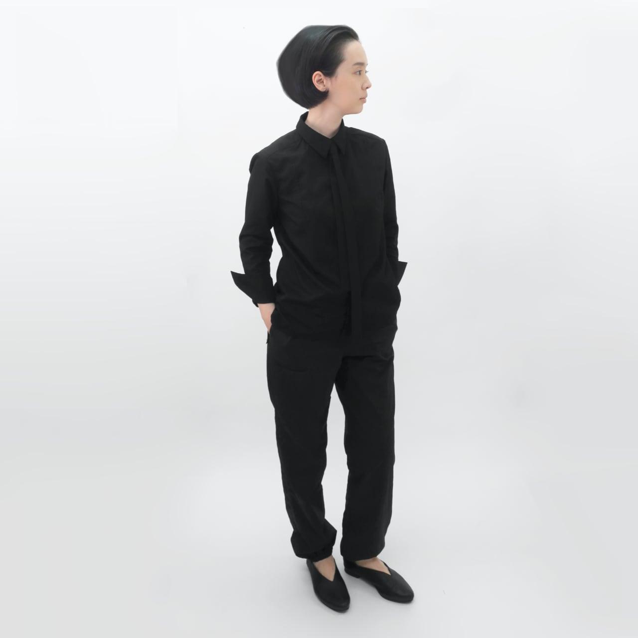 受注制/ポリエステル混コットン/比翼/ネクタイ/シャツカラーシャツ/T-4