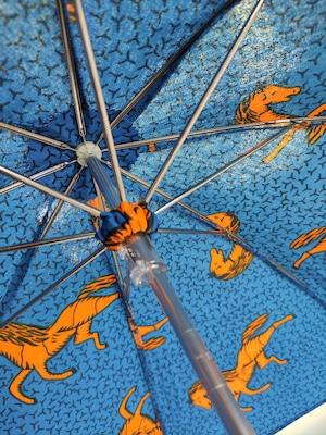 アフリカンファブリックオーダー日傘(白地に黄色と赤馬)  Produce by MANGROVE
