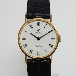 ROLEX ロレックス チェリーニ 2688405 YG 革 手巻き ベルト社外品 腕時計 レディース