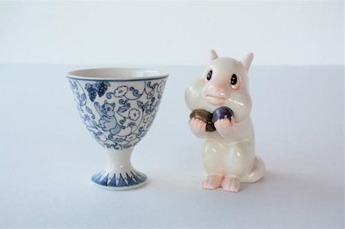 shuki 栗鼠と葡萄(オブジェ・カップ 2点セット)
