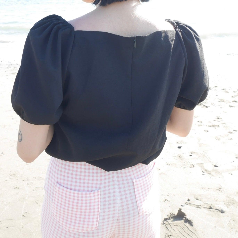 【Belle】heart blouse / black