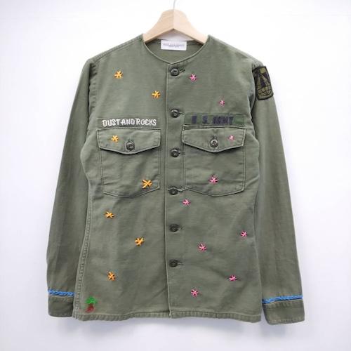 【DUSTANDROCKS made】リメイクミリタリーシャツ
