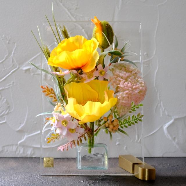 sumika S ポピー  イエロー アンティーク花瓶シリーズ