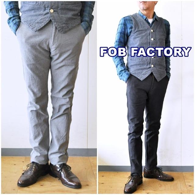 FOB FACTORY/エフオービーファクトリー F0423 オンオフトラウザーパンツ メンズ パンツ ストレッチ伸縮性