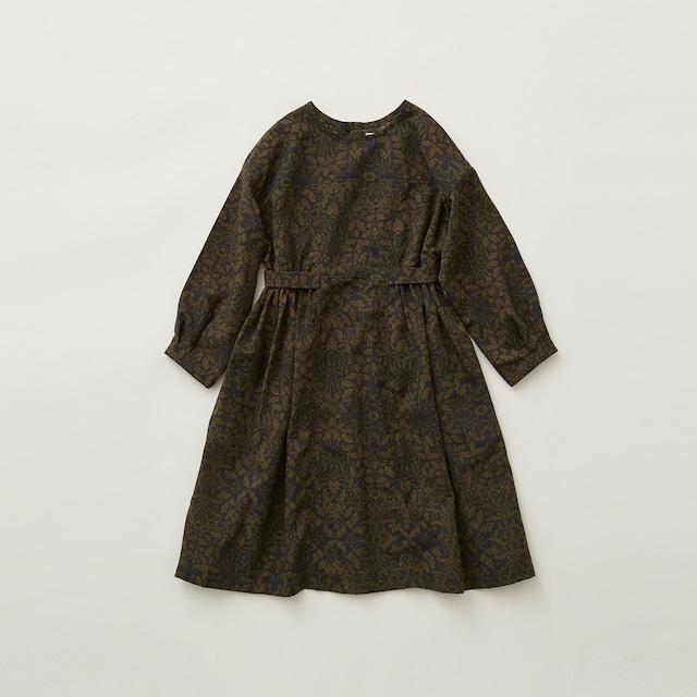 eLfinFolk  Luminous flower  dress (khaki) 110 120 130  elf-212F11 送料無料