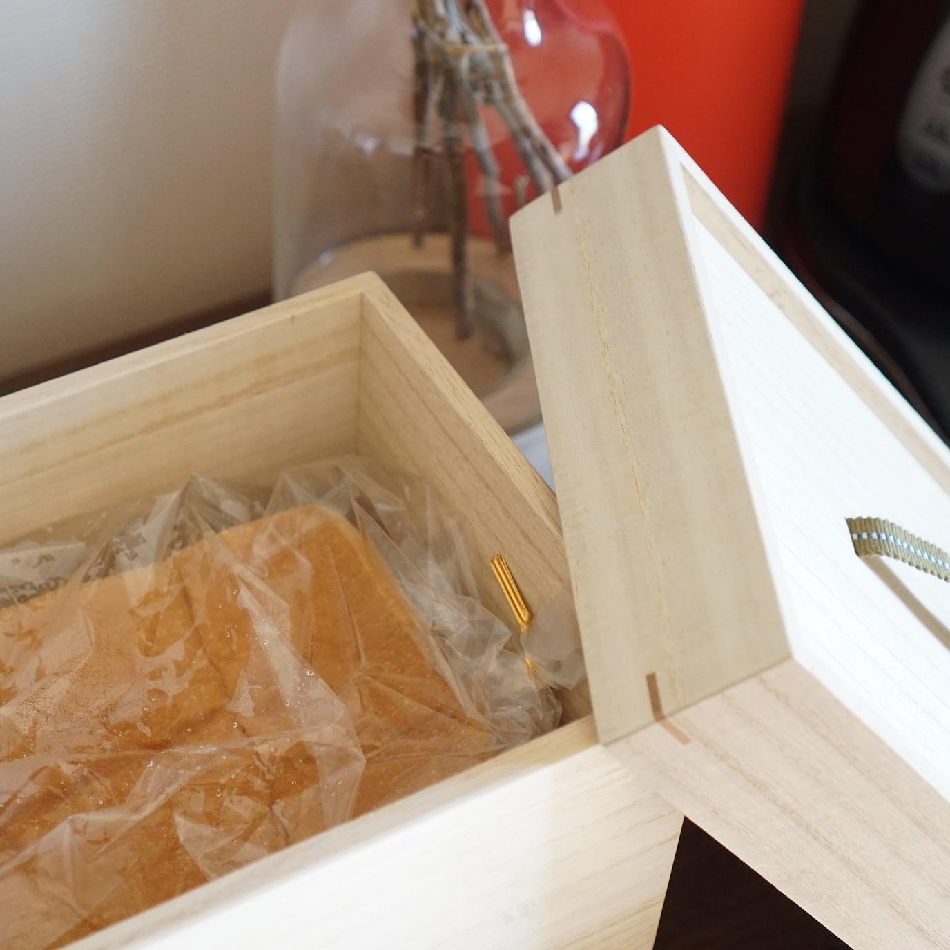 調湿性と防虫効果抜群の桐箱。食品・食パン 保存桐箱