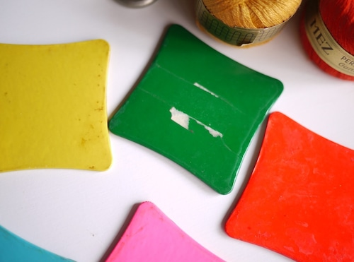 昭和手芸材料 糸巻 セルロイド 5色