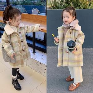1524子供服 キッズ 冬コート ダッフルコート ジュニア 女の子 ジャケット 冬 防寒 ツイードコート アウター 子ども服