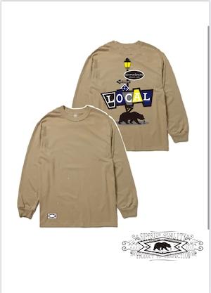 L/S T-shirts -SAND beige-