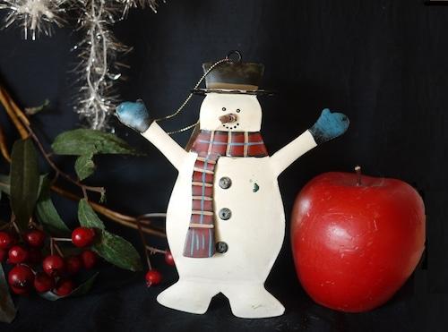 雪だるま メタルのクリスマスオーナメント ヴィンテージNZ