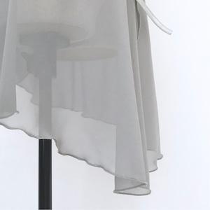 "◇""Tatiana"" Ballet Wrap Skirt -  Misty Silver [Sheer](  ミスティ・シルバー [シアー])"