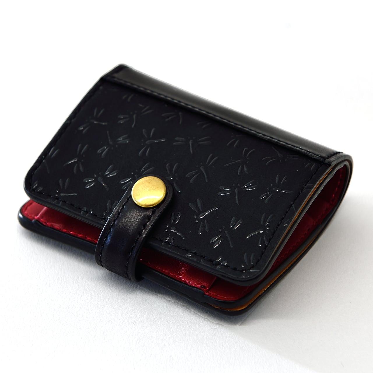 印伝×コードバン 二つ折財布(小銭入れあり)