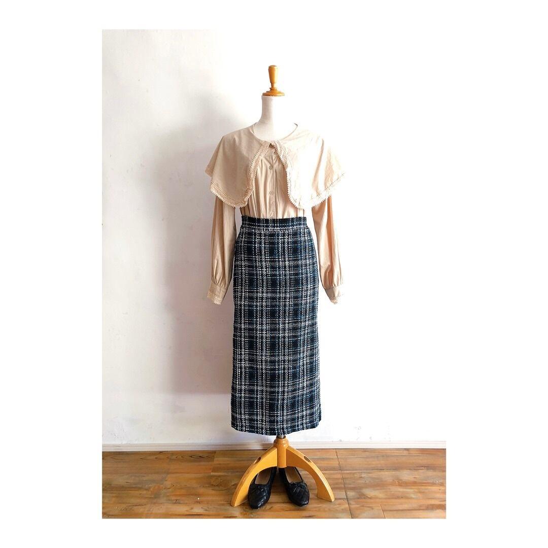 ツイード風タイトスカート
