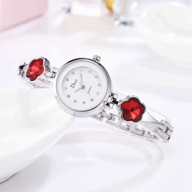 DISU LT-D3067(silver-red) レディース腕時計