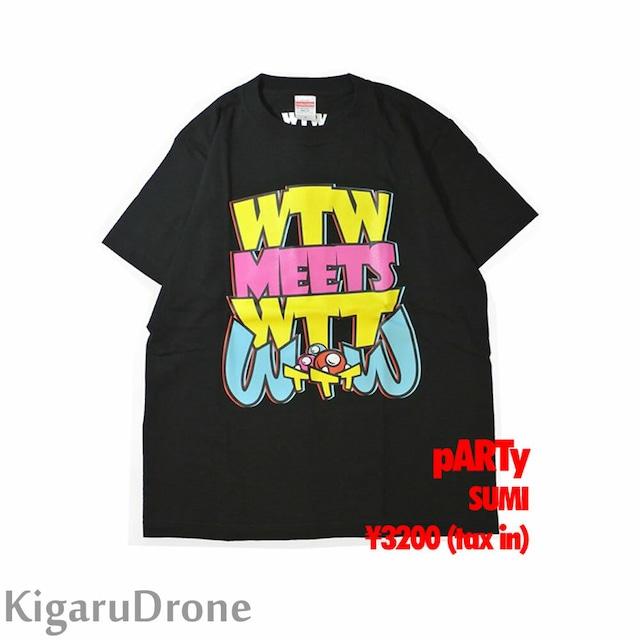WTW x WTT x TTT コラボ 限定Tシャツ pARTyタイプ ブラック