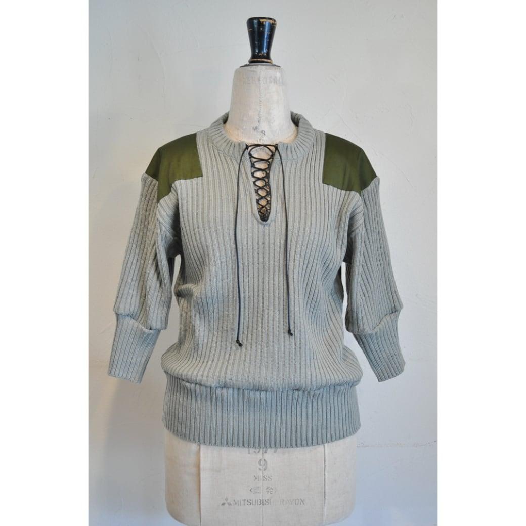 【RehersalL】puff sleeve commando sweater(gray) /【リハーズオール】パフスリーブコマンドセーター(グレー)