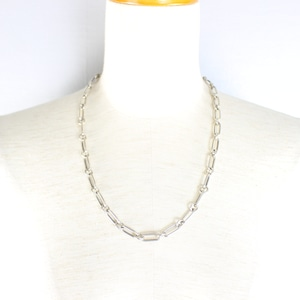 .GUCCI SILVER CHAIN NECKLACE MADE IN ITALY/グッチシルバーチェーンネックレス2000000052496