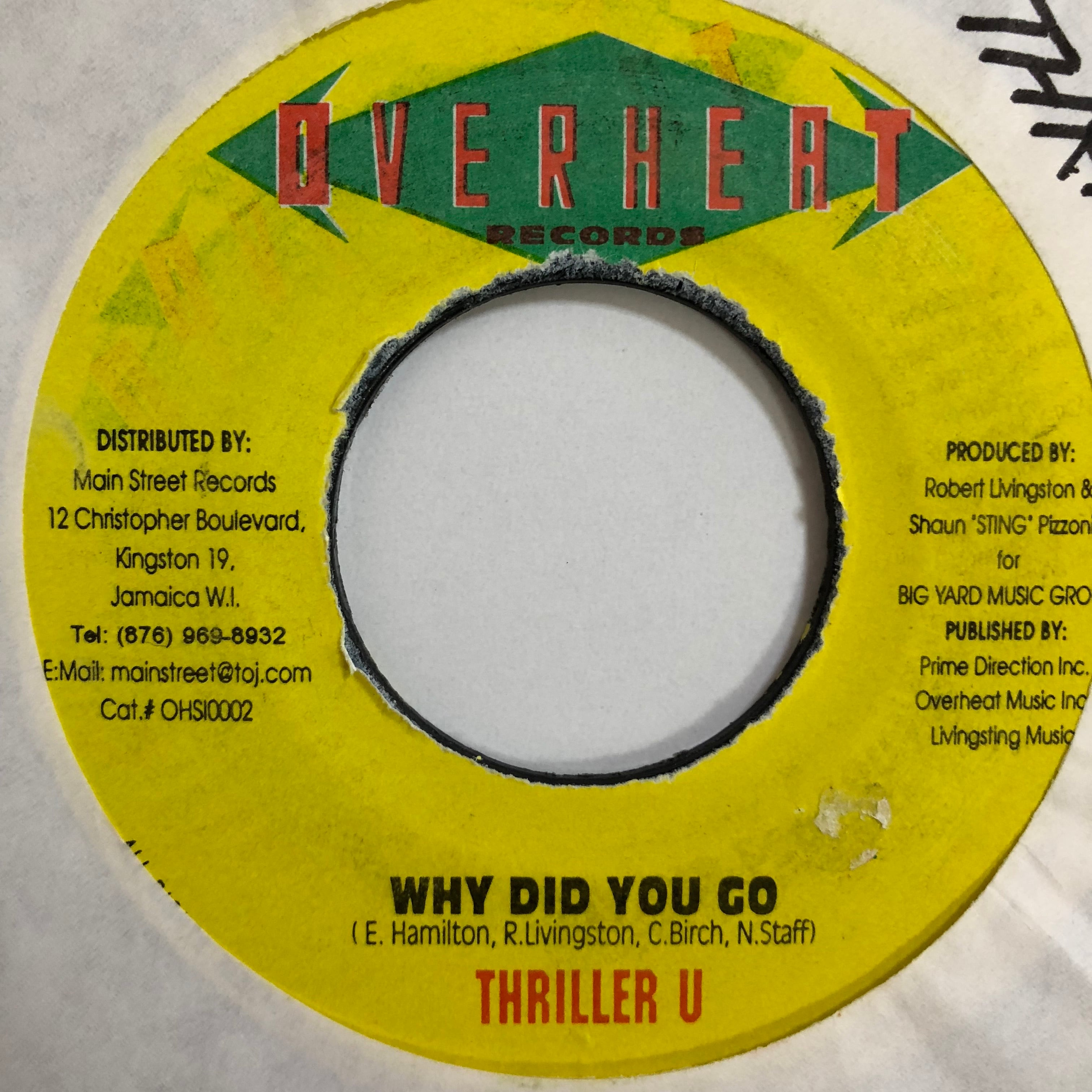 Thriller U(スリラーU) - Why Did You Go【7-10745】