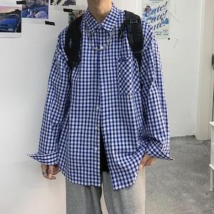 ギンガムチェックルーズシャツ BL8102