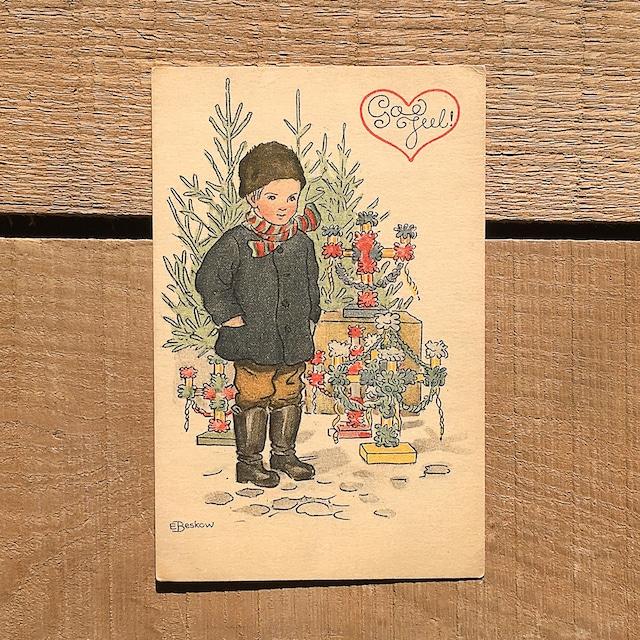 クリスマスカード「Elsa Beskow(エルサ・ベスコフ)」《210213-06》