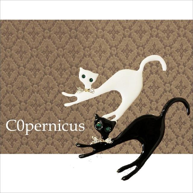 2color 猫ブローチ 2 ネコ雑貨/浜松雑貨屋C0pernicus