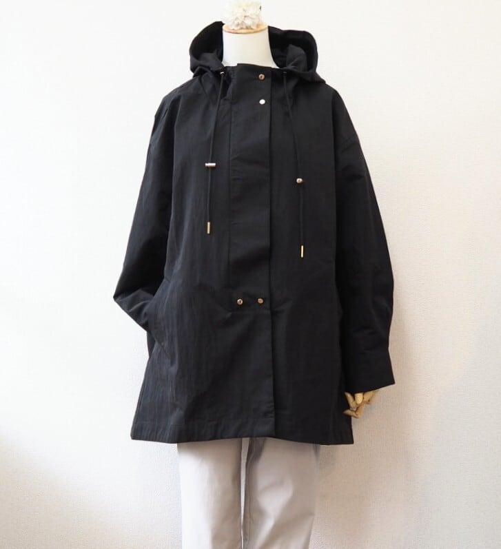 hoodie coat <black>