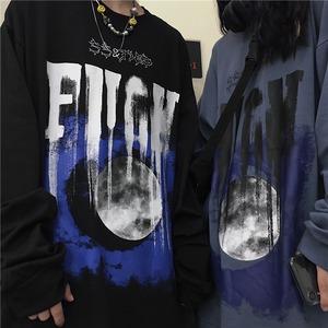 【トップス】ファッションルーズ暗黒系プリント長袖Tシャツ52629163
