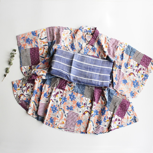 OCEAN&GROUND 浴衣ワンピース FLOWER 1012701  ピンク
