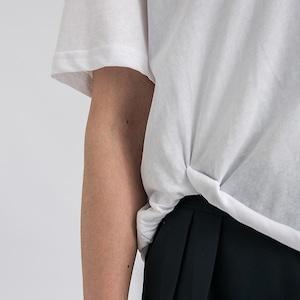 Curled up hem T-shirt(カールドアップヘムTシャツ)b-327