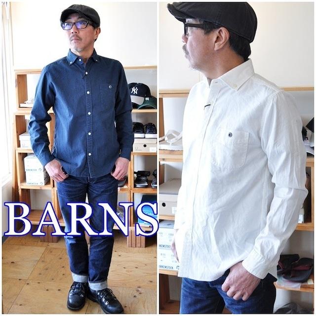 BARNS バーンズ  長袖 ボタンダウンシャツ 4965N