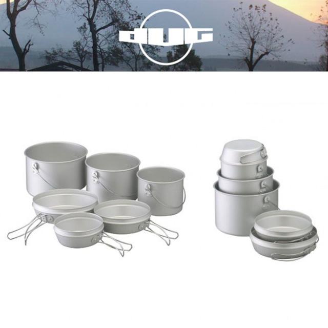 DUG(ダグ) 焚火缶 3点セット DG-0103 アウトドア サバイバル キャンプ大鍋 クッカー トライポッド対応