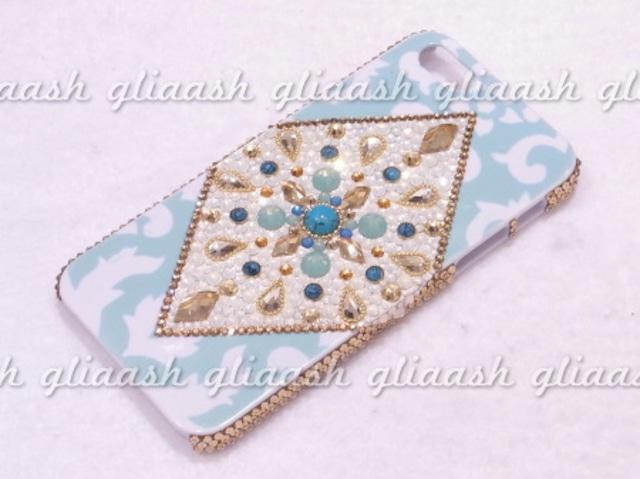LUMIERE×gliaash ロータス×モロッコ クリスタルデコiPhone5カバー
