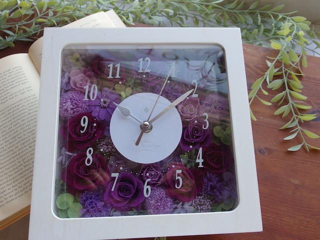 花時計♡しっとり大人・紫のバラで上品な華やぎ