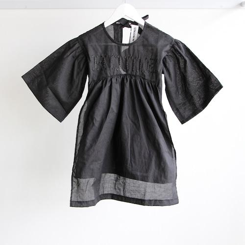 《UNIONINI 2018SS》HOME blouse dress / black / 1Y-10Y