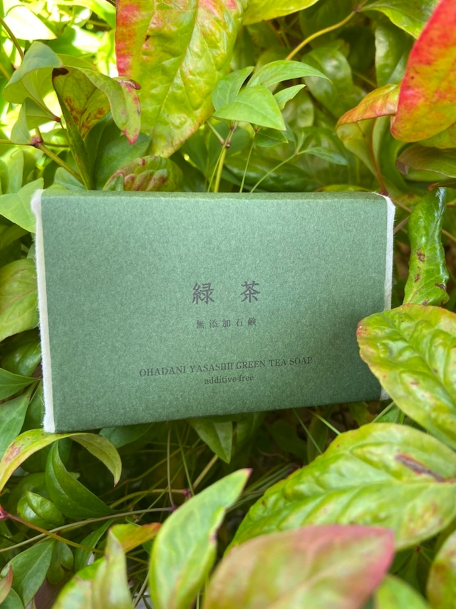 【無添加石鹸本舗】緑茶石鹸