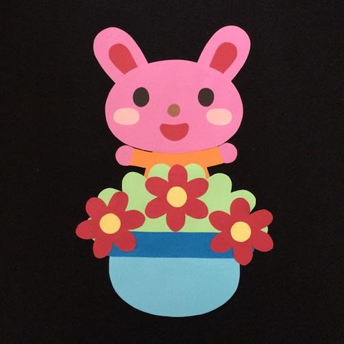 誕生表に使えるウサギ(赤)
