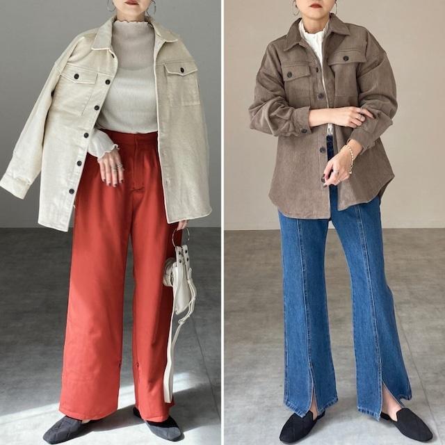 ◆即納◆ビッグシルエット コーデュロイシャツジャケット OP-t234