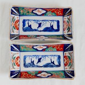 【31002】伊万里 長皿 赤絵 / Imari Rectangle Plate /