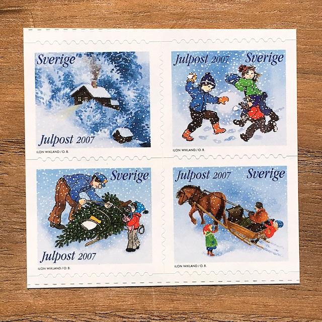切手(未使用)「2007年版 クリスマス切手:アストリッド・リンドグレーンによる物語のクリスマス(2007)」