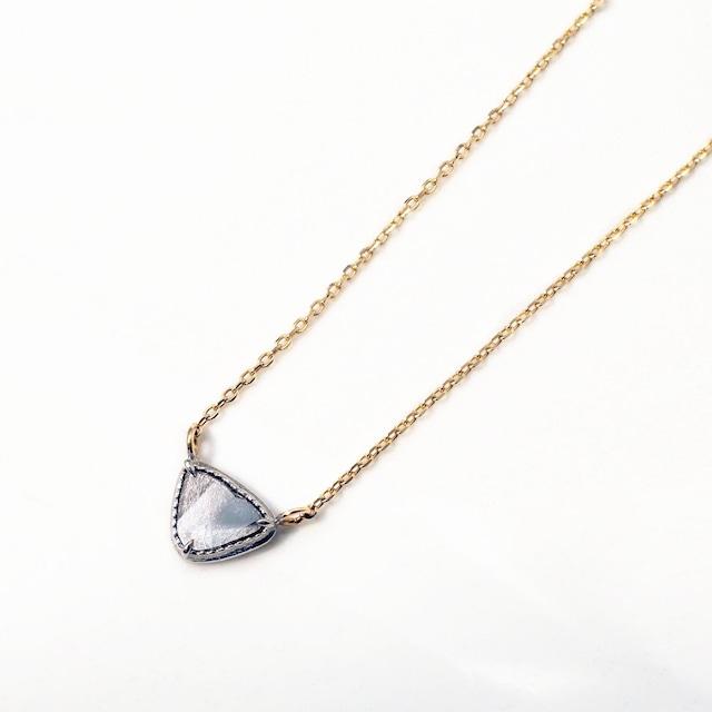 Sliced Diamond Necklace / White & Yellow Gold