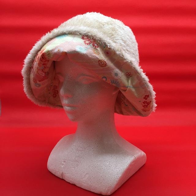 【和紋ちりめん布×Beige】Winterリバーシブル帽子
