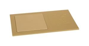 消毒液ボトル / ディスペンサーマット メタル ゴールド