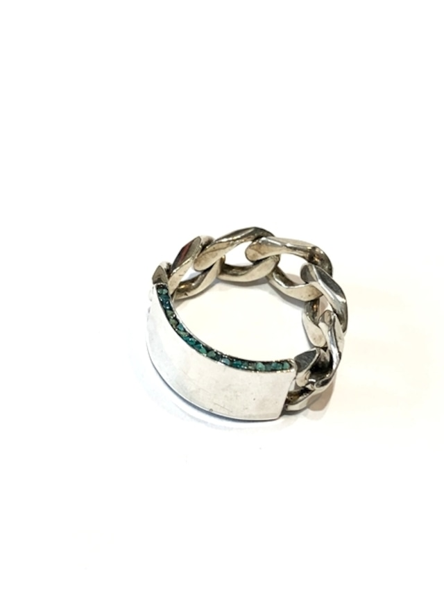 50%OFF【GARDEN OF EDEN】CHAIN PLETED RING with TURQUOISE
