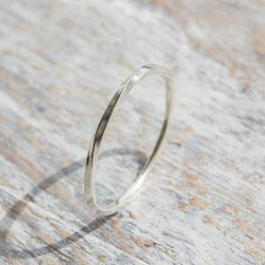 シルバーツイストリング 1.0mm幅 鏡面 3号~27号|WKS TWIST RING 1.0 sv mirror|SILVER950 銀 指輪 FA-168