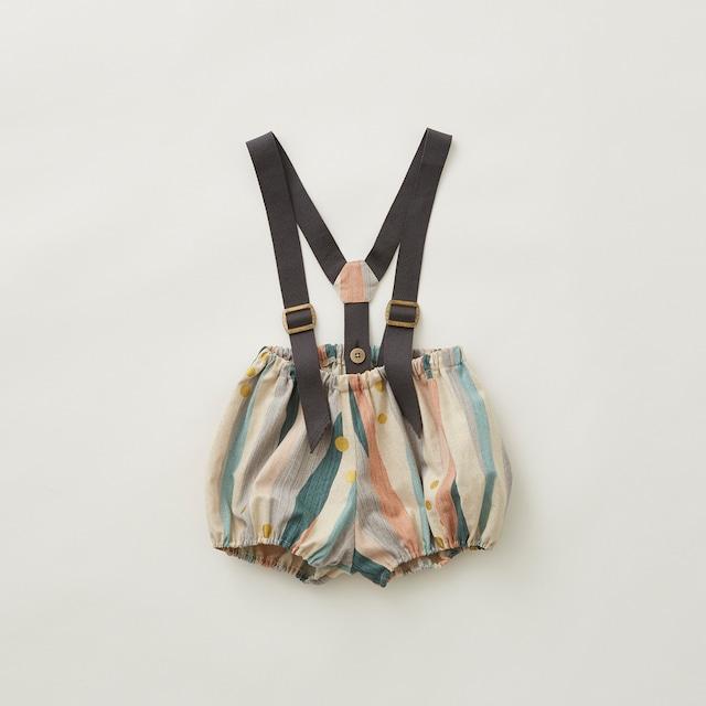 eLfinFolk  Crambon stripe suspenders bloomers (pale pink) 90  elf-212F06 ※1点までメール便OK