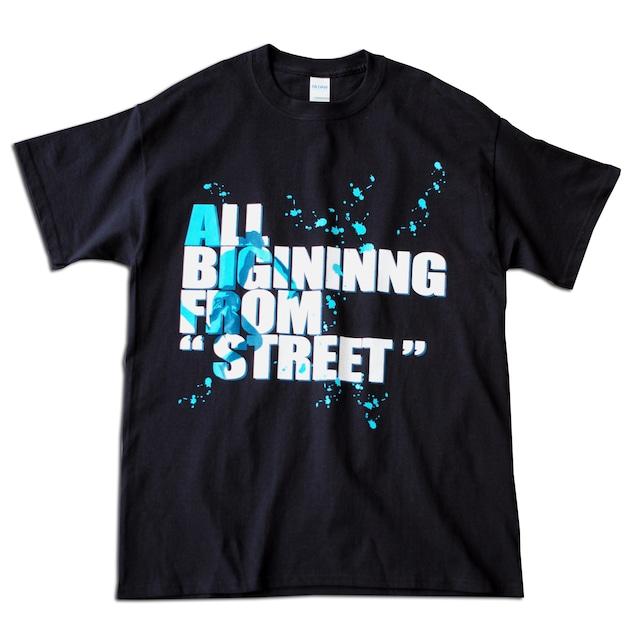 応援Tシャツ.TS01 Black