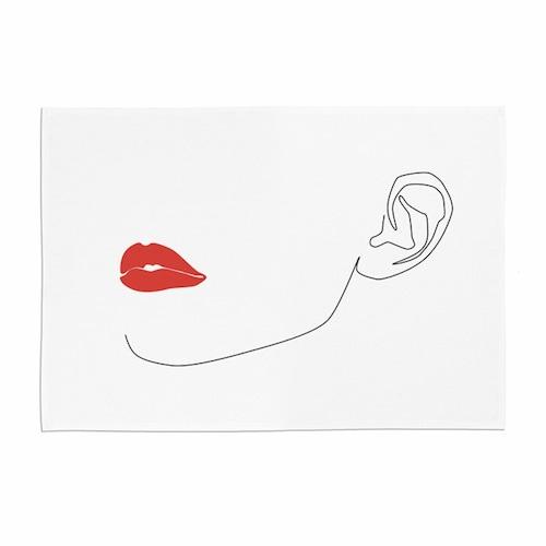 face line illustration fabric poster 3size / フェイス イラスト ファブリックポスター 韓国