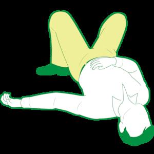 仰向けで倒れている男性①