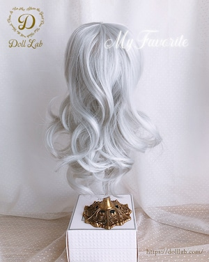 DWL014-A001-10inアリスシフォン[10inch]ホワイトシルバー 髪なしブライス ドール ウィッグ